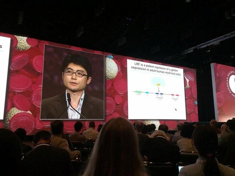 2015年12月に開催されたASH(米国血液学会)のPlenary Scientific Sessionで、研究結果を発表した。