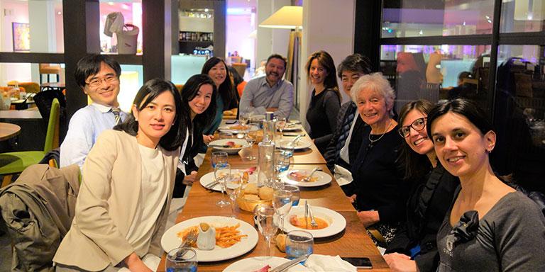 Eurocordとの初めての打ち合わせ、2017年EBMTが開催されたマルセイユにて。一番左が諫田氏。